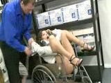 Crazy Doctor Abuse Milf Friend in Hospital Restroom