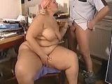 BBW Blonde Mom Blowjob