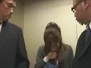 Schoolgirl  Fucked In The Elevator