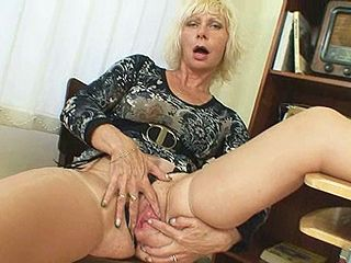Milf teacher loves to masturbate after school