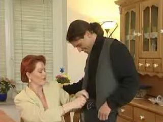 Redhead German Milf Offers Sons Best Friend To Help Him Release From Stress