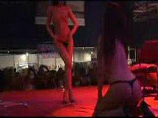 Scandal on stage lesbian strip
