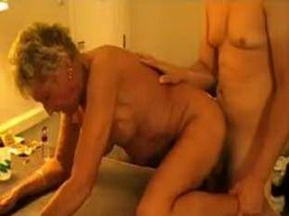 Mature Milf Hardly  Standing Young Dick