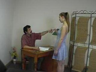 Doctors Office Spanking & Totally Naked Exam xLx