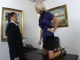Domino Secretary Shows To Boss He Can't Jerk Off With Her