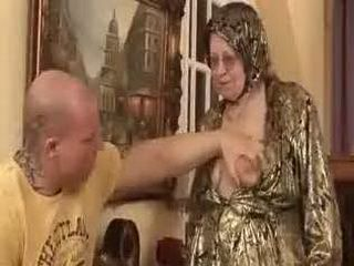 Muscle Man Asked From Granny To Touch Her Old Tits