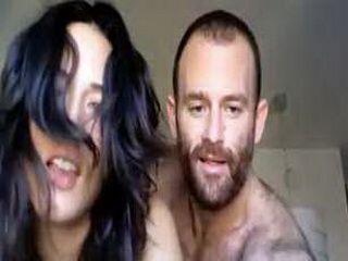 Horny amateur couple having sex on webcam