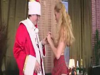 Teacher dressed as Santa does this teen after a blowjob