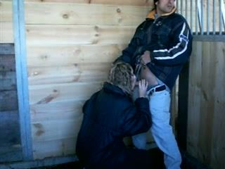 Stable Boy Fucking Owners Daughter In A Stable While Daddy Is Right Outside