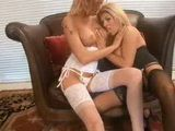 Two Blondes Warm Each Other Up Before Giving Team Bj 3x