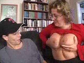 Boy Gets Some Help From A Mature Mom 3x