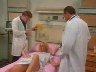 Blonde Girl Will Be Much Better After Double Doctors Assistance 3x