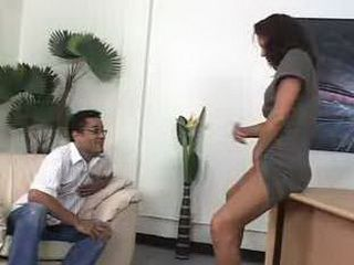 Naughty Latina Secretary Teasing Her Boss In Office 3x