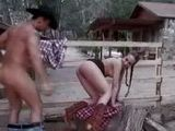 Cowgirl gets hairy beaver fucked