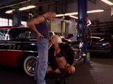 Blonde Mature Lady Sucking Lover's Cock In Garage 3x