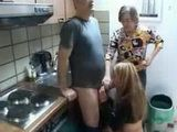 Mom checks on Plumber doing her Daughter