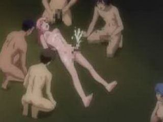 Bondage hentai shemale DP
