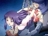 Chained hentai coed hard double penetration