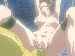 Captive hentai with muzzle gets dildoed wetpussy and cumshot