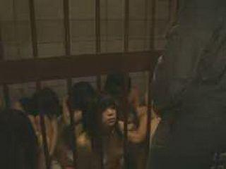 Weird BDSM nudist Japanese slaves give kinky blowjobs