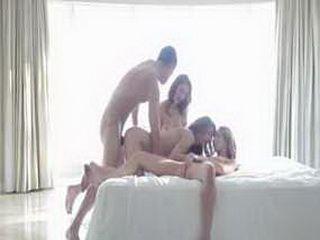 Three On One Group Sex