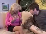 Surveying Blonde Wanna Shows Tattoo To Sons Friend 3x