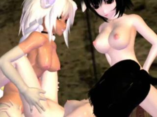 Hentai girl with huge cock gangbang