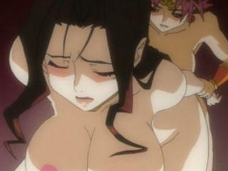 Anime shemale jerked and slammed