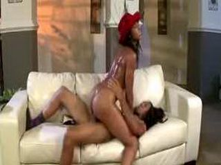 Lucky brotha pounds Hilary Banks tight pussy in porn parody