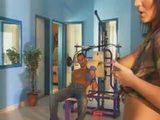 Busty Hot Brunette Bitch Tease The Guy In The Gym