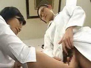 Strange Japanese doctor vaginal masturbation research
