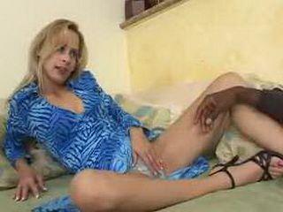 Blonde Mom Likes Taste Of Ebony Dick