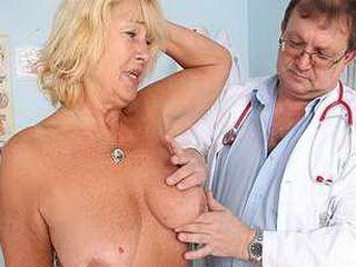 Hot busty granny tits and pussy gyno checkup