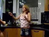 Horny Girl Homemade Kitchen Sextape