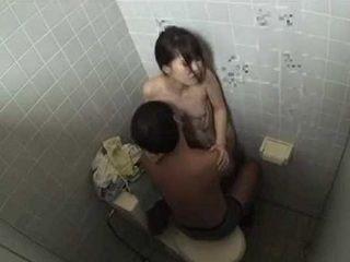 Japanese Girl Quick Fuck In Public Toilette