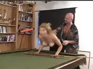Brothers Girlfriend Gets Roughly Fucked  On A Pool Table