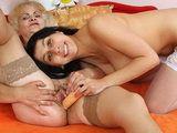 Horny amateur milf toys naughty hairy granny