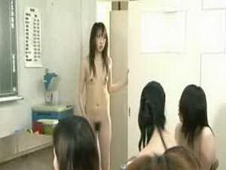 Nude in school Japan schoolgirls cruel group bullying