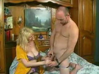 Experienced Mature Mom Disinfectant Cock Before Use