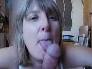 Busty housewife gives blowjob and rides cock