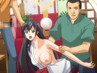 Caught Japanese hentai girls hard gangbanged