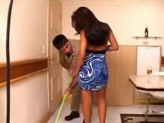 Indian Bitch Asked Cleaning Man To  Clean Under Her Skirt