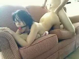 Submissive asian teen get fucked