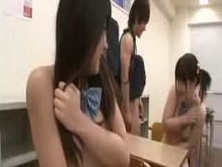Subtitles two Japanese  strip nude in class
