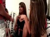 Horny latina pounces on stripper