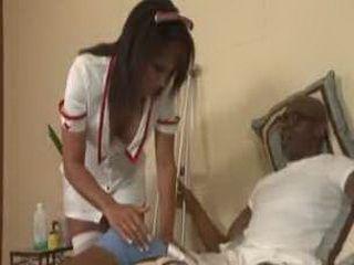 Ebony Nurse Loves Rough Fucking In Her Hot Ass