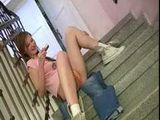 Teen coed girl getting naughty