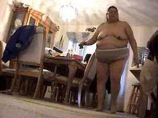 BIG FAT WHORE ALMA SMEGO GETTING DRESSED