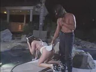 Spanking By The Pool