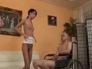 Teasing Man In Wheelchair